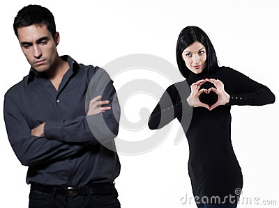 Couple Relationship Difficulties Stock Photo - Image: 25042120