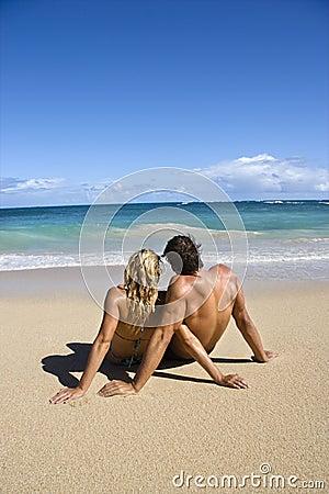 Couple relaxing.