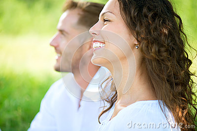 Couple Relaxing in a Park. Picnic