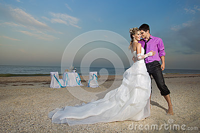 Couple resting on the beach