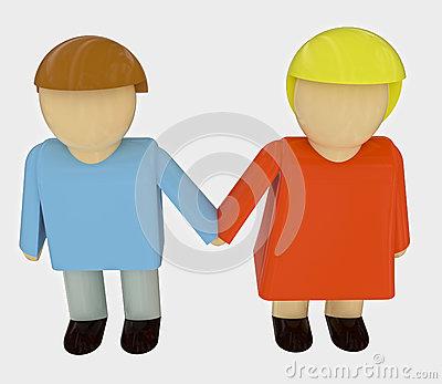 Couple in romantic relationship holding hands