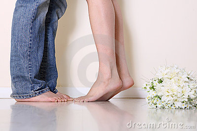 The couples feet