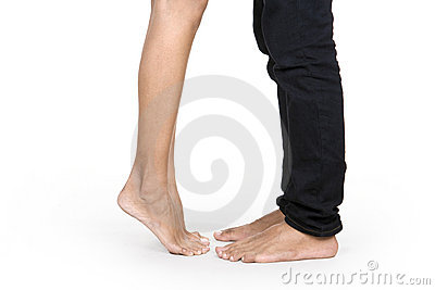 The couple s feet