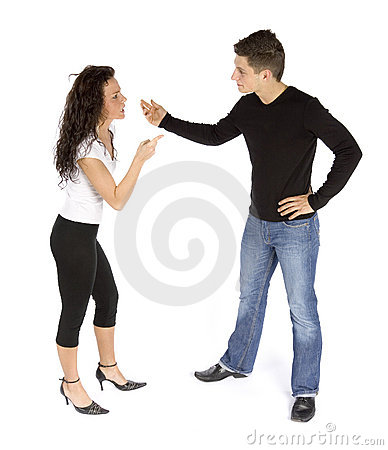 Couple s quarrel