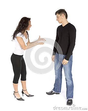 Couple s quarrel - woman crying
