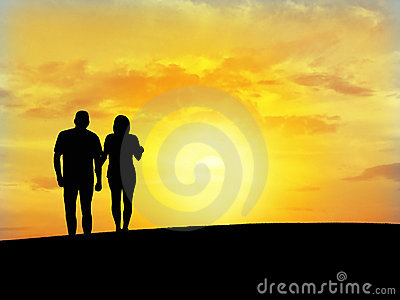 Couple s silhouette N6