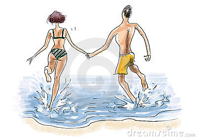 Couple on seaside holiday