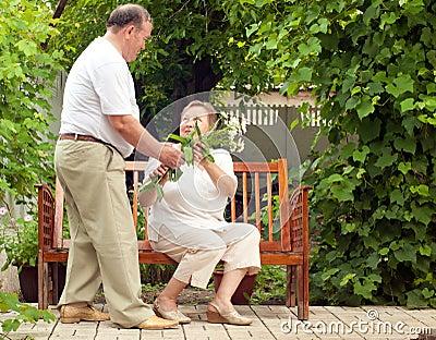 Couple seniors