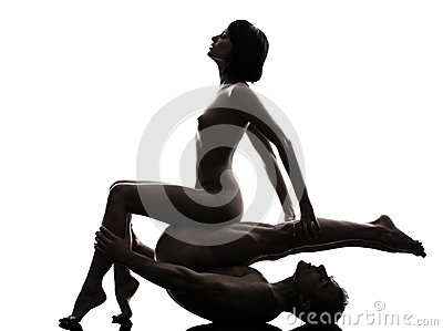 Couple sexual kamasutra love activity silhouette