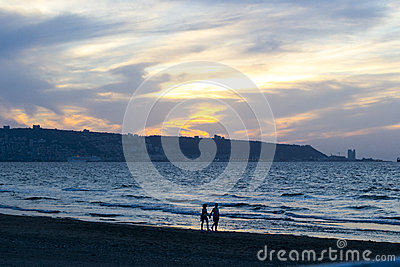 Couple on the shore