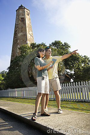 Free Couple Sightseeing By Lighthouse. Royalty Free Stock Images - 2038289