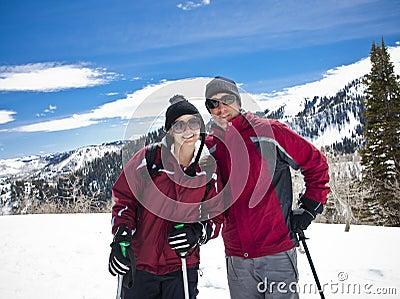 Couple on a Ski Vacation