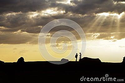 Couple On Skyline  Free Public Domain Cc0 Image