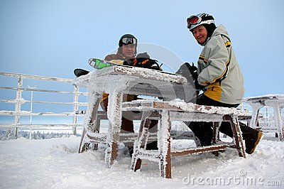 Couple Of Snowboarders Stock Photography - Image: 8780282