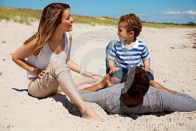 Couple Spending Summer with Son