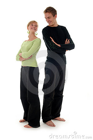 Free Couple Standing Back To Back Stock Photo - 1378590