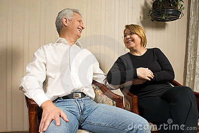 Couple Staring and Smiling - horizontal