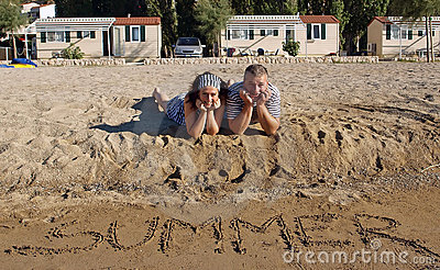 Couple at summer holidays