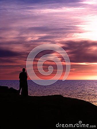 Couple Sunset Purple