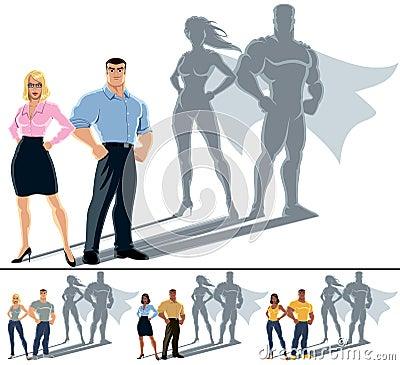 Free Couple Superhero Concept Royalty Free Stock Photos - 35970418