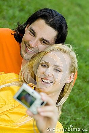Couple taking photo