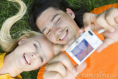 Couple Taking Photo Royalty Free Stock Photo - Image: 5978895