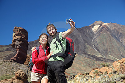 Couple taking picture, tenerife