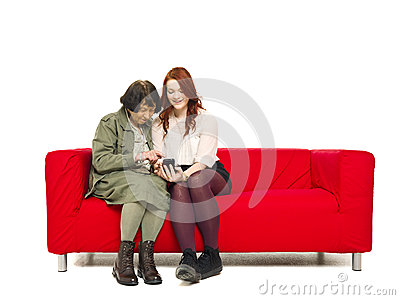 Couple with telephone