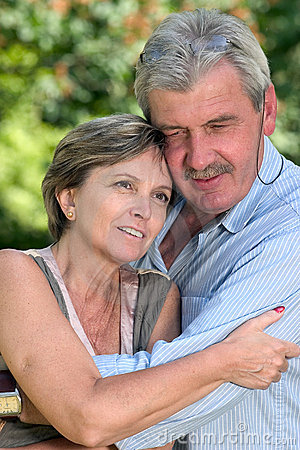 Couple in their fifties.
