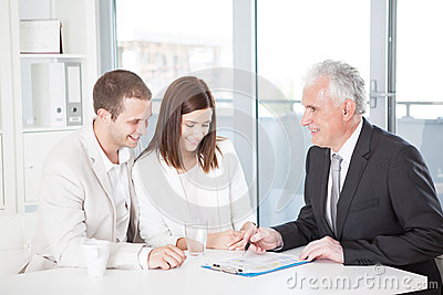 Couple With Their Financial Advisor