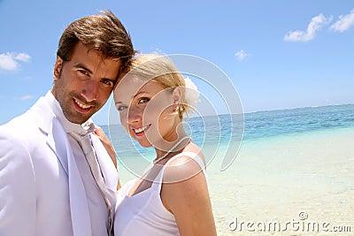 Couple on their honeymoon