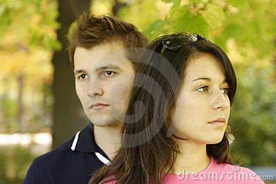 Couple in thoughts