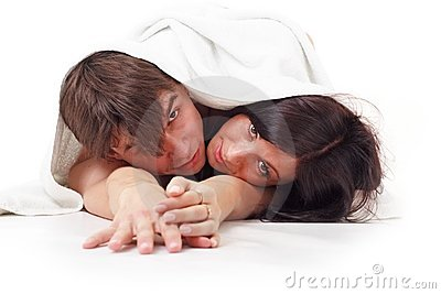 Couple with towel