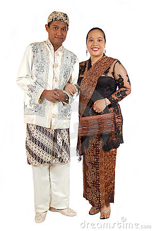 Couple with traditional dress