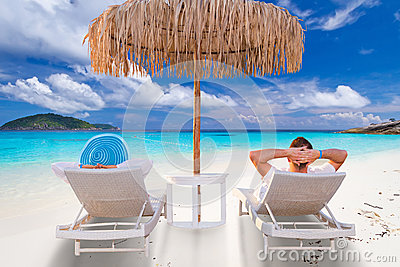 Couple on tropical holidays