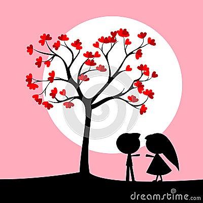 Couple under love tree
