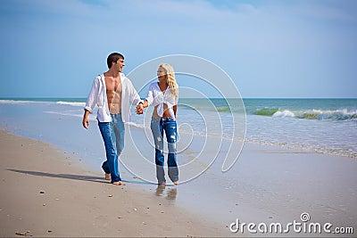 Couple on vacation on a beach