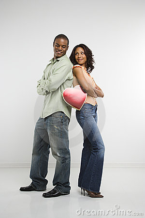 Couple with valentine heart