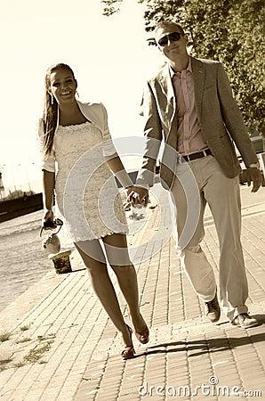 Couple on walk