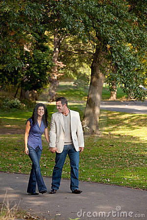 Couple Walk Park