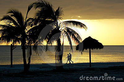 Couple walking on Fort Myers Beach