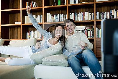 Couple Watching TV