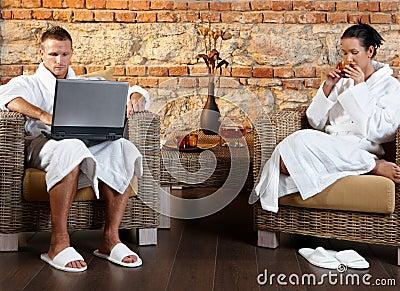 Couple in wellness