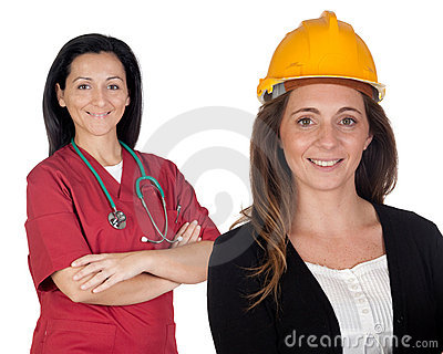 Couple of women workers