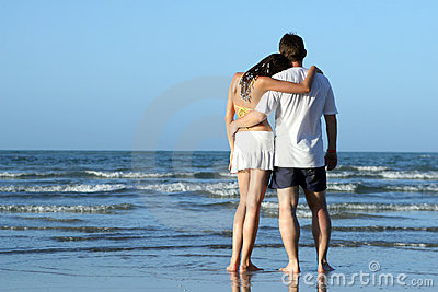 Couples at the beach