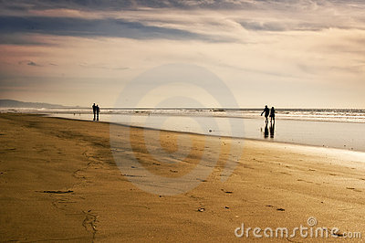 Couples on the Beach, California