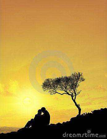 Couples (ciel De Sun) Photos libres de droits - Image: 595838