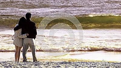 Couples dans la plage