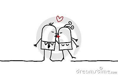 Couples et baiser