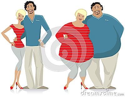 Couples suivants un régime